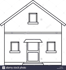 outline front view house home stock vector art u0026 illustration