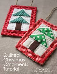quilted christmas quilted christmas ornament tutorial u create