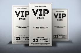 Vip Invitation Cards Clean Retro Style Vip Pass Card Card Templates Creative Market