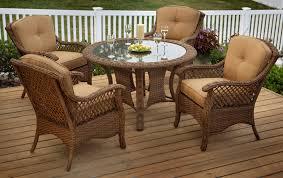 agio veranda agio 5 piece outdoor dining set with tan woven glass