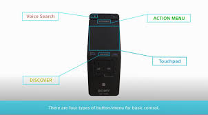 sony android tv remote sony bravia how to your tv with the touchpad remote