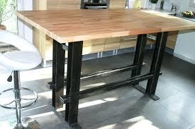 fabriquer table haute cuisine table bar industriel fabriquer une table haute photo gallery table