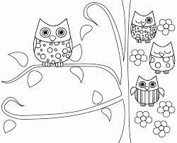 owl coloring pages to print out kids coloring