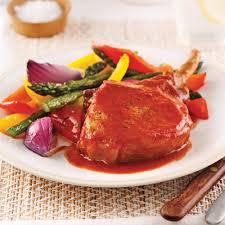 recette cuisine côtelettes de porc barbecue et érable pour sacs à congeler