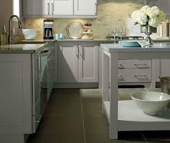 Kitchen With Gray Cabinets Light Grey Kitchen Cabinets Kemper Cabinetry