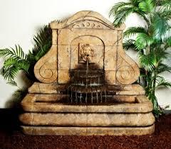 avignon lion outdoor cast stone garden wall fountain