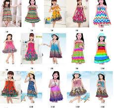 2017 2 10 age new kids girls dresses fashion knee length beach