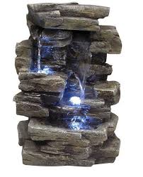 Tabletop Rock Garden Indoor Tabletop Water Alpine Led Lights Rock Garden
