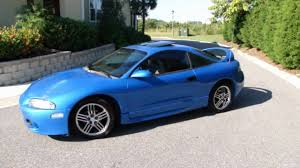 eclipse mitsubishi 1998 1997 mitsubishi eclipse gst blue for sale youtube