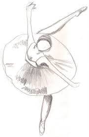simple ballerina drawing illustration with a ballet dancer royalty