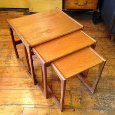 Teak Tables 1960s G Plan Nest Of 3 Teak Coffee Tables
