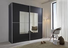 Schlafzimmerschrank Schwebet Enschrank Kleiderschrank Weiß Schwarz Mit Spiegel Mxpweb Com