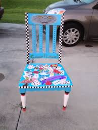 alice in wonderland hand painted chair by downtownpunk on deviantart