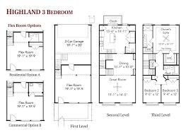 three bedroom townhouse floor plans building plans online 76026