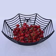 Candy Basket Plastic Spider Web Fruit Candy Basket Bowl Halloween Party Decor