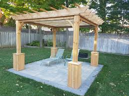 pergola build from scratch filling a backyard void album on imgur