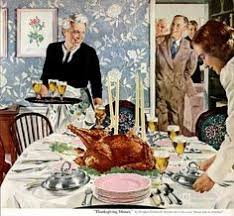 1950s anon acme photo agency basting thanksgiving turkey