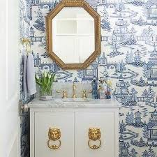die besten 25 powder rooms with chinoiserie inspired wallpaper