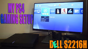 my ps4 gaming setup unboxing dell monitor s2216h youtube