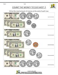 4th Grade Math Worksheets With Answers Printable Money Worksheets To 10