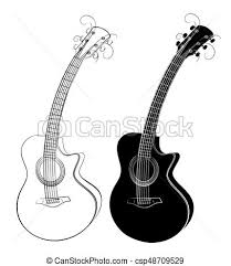 vector illustration of guitar sketch sketch of a classical