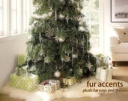 faux fur tree skirt white fur christmas tree skirt beneconnoi