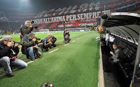 panchina di calcio milan real la notte dei giganti calcio fotogallery sky sport