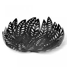 decorative fruit bowl furniture entrancing image of decorative round black leaves