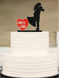 bride and groom wedding cake topper silhouette wedding cake topper