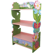 Pink Childrens Bookcase Furniture Home Kids Wooden Bookcase Childrens Small Bookshelf Toy