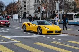 ferrari yellow car yellow ferrari 488 gtb madwhips