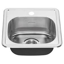 Stainless Kitchen Sinks by Colony Top Mount Ada 15x15 Single Bowl Stainless Steel 1 Hole