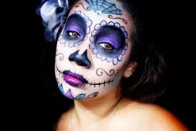 Purple Halloween Eye Makeup by Halloween Makeup Tutorial Sugar Skull Makeup Honeygirl U0027s World
