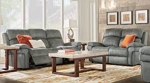 3 Pc Living Room Set Glendale Charcoal 3 Pc Living Room With Reclining Sofa Living