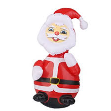 Blow Up Christmas Decorations Amazon by Inflatable Santa Claus Blow Up Christmas Yard Lawn Decoration 62cm