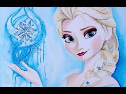 elsa disney frozen art drawing video frozen fever speed