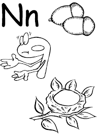 alphabet coloring pages of flowers letter n coloring pages letter