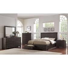 casual classic basalt gray 6 piece full bedroom set heath rc