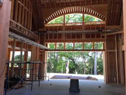wood framing an eyebrow window cumulus architecture design llc cassique great room view
