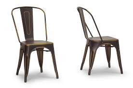 Copper Bistro Chair Baxton Studio Industrial Bistro Chair In Antiqued Copper