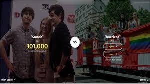 Challenge Smosh Smosh Vs Buzzfeed Higher Or Lower Challenge