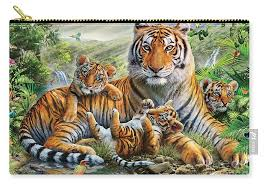 tiger and cubs carry all pouch for sale by adrian chesterman
