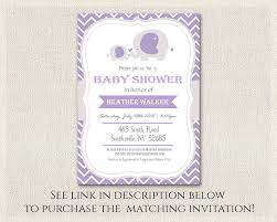 purple gray elephant theme baby shower cupcake toppers girls