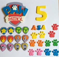 paw patrol cupcake toppers fondant paw patrol