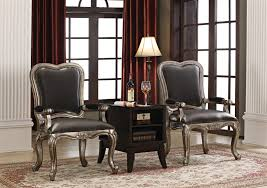 accent table and chairs set 3 piece accent chair and table set by acme 96204 3