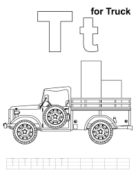 truck coloring pages t is for truck alphabet coloring page