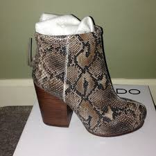 s boots aldo aldo snake skin ankle boots from s closet on poshmark
