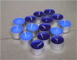 blue tea light candles tea lights