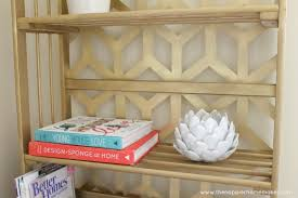Gold Bookcase Gilded Bookcase Makeover The Happier Homemaker