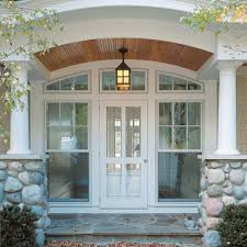 Front Door Light Fixtures by Front Porch With Cottage Hanging Lantern Light Outdoor Porch